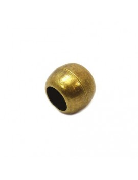 Fermoir aimanté boule bronze 10 mm