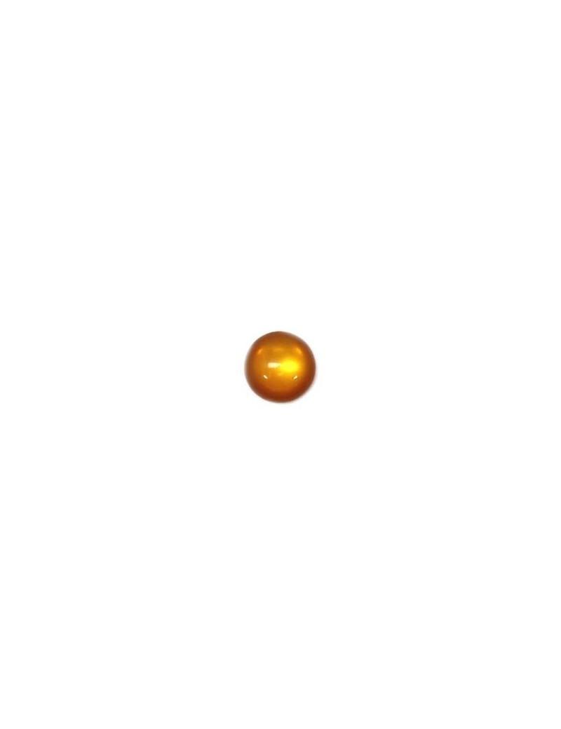 Cabochon en résine marron clair brillant 12 mm