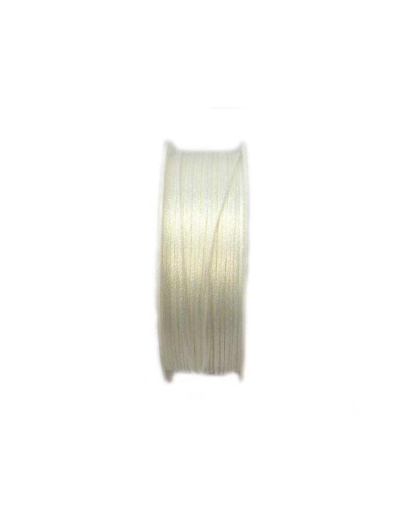 Cordon queue de souris 1,5 mm blanc - 50 cm