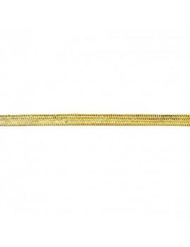 Ruban lurex tressé doré 5 mm - 50 cm