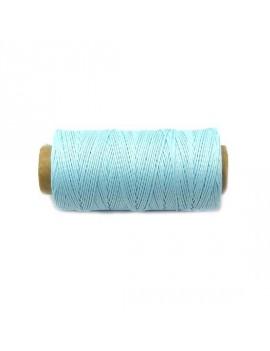 Cordon polyester 0,5 mm bleu ciel - 50 cm