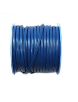Cuir plat naturel bleu électrique 3 mm par 10 cm