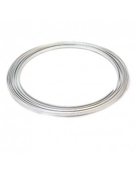 Fil aluminium argent vieilli plat 3 mm - 1 mètre