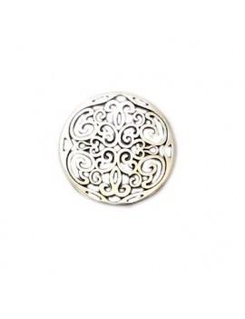 Médaille travaillée argent vieilli 31 mm