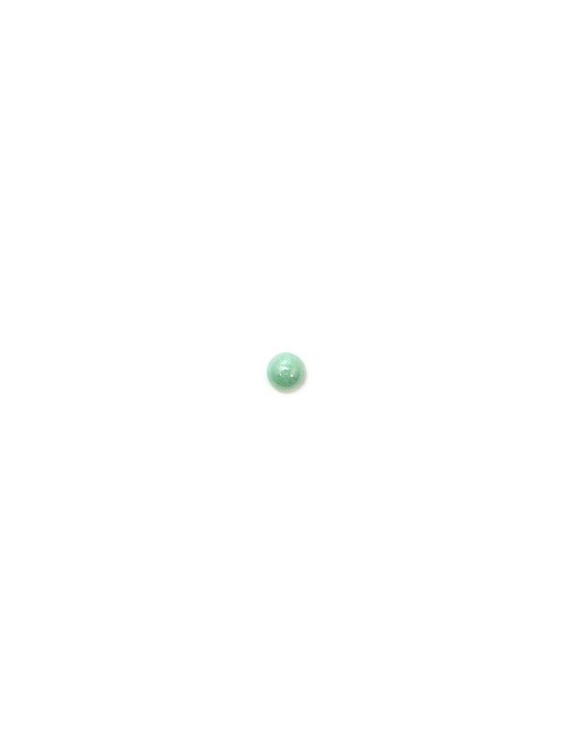 Cabochon en verre turquoise 4 mm