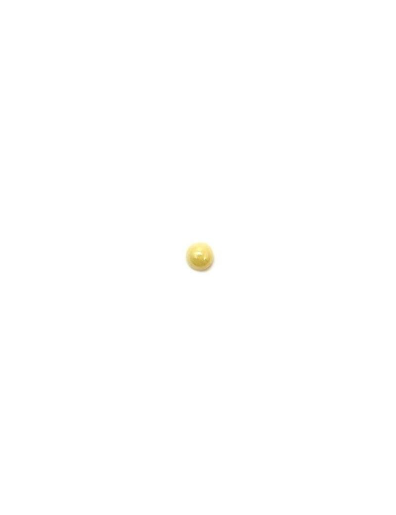 Cabochon en verre crème 4 mm