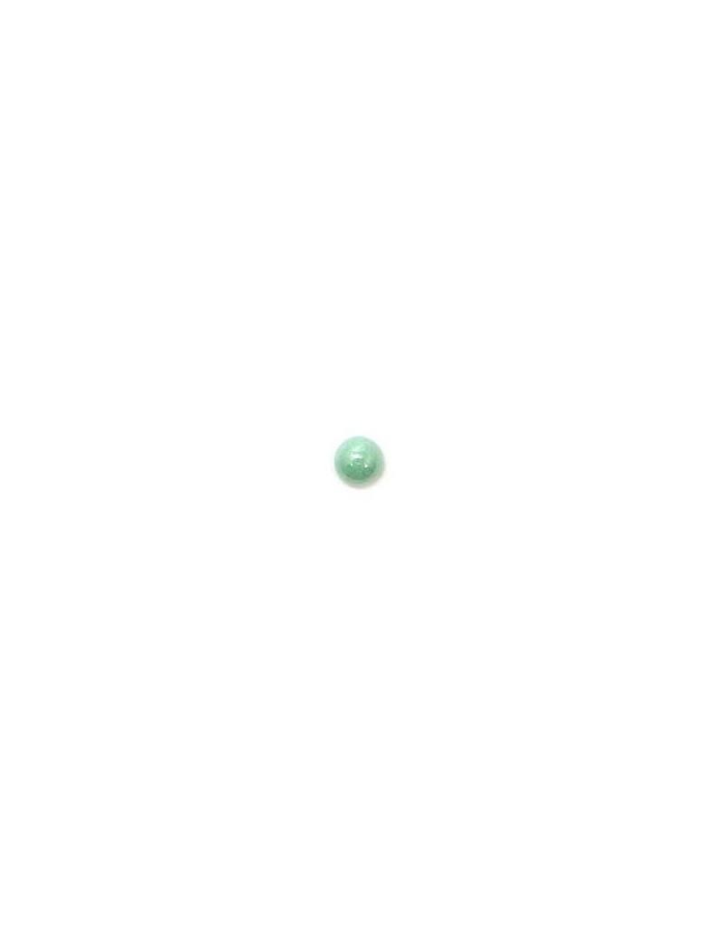 Cabochon en verre turquoise 6 mm