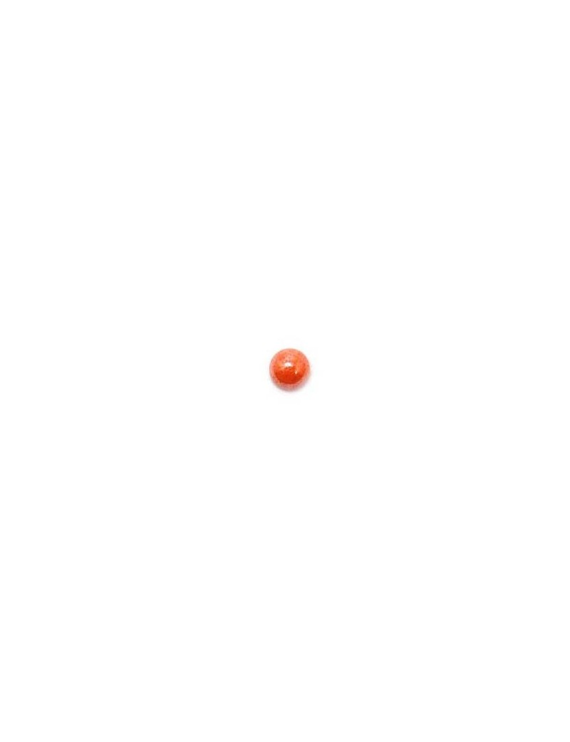 Cabochon en verre orange 6 mm