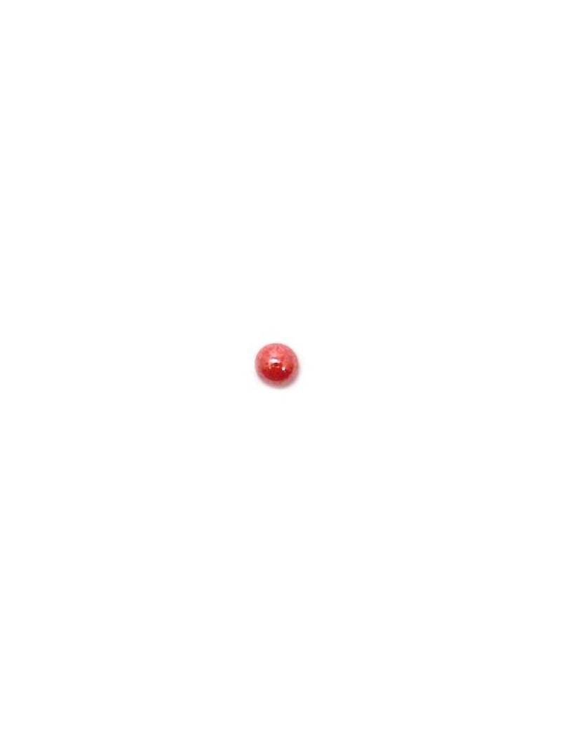 Cabochon en verre rouge 6 mm