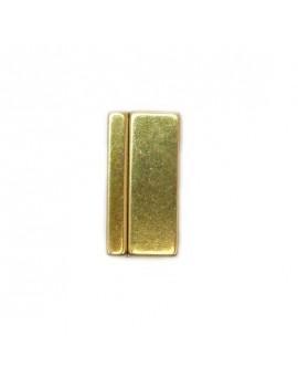 Fermoir bronze magnétique 17x33 mm