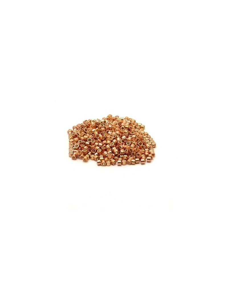 Delica Miyuki 11/0 rose gold galvanisé DB 434