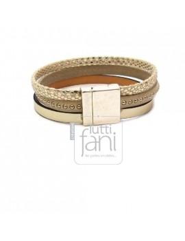 Fermoir bronze magnétique 18x18 mm