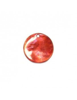 Sequin en nacre rouge 20 mm