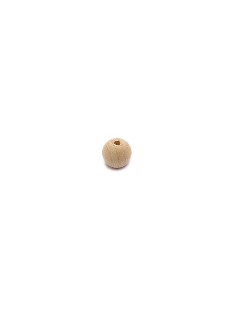 Perle en bois naturel brut 10 mm