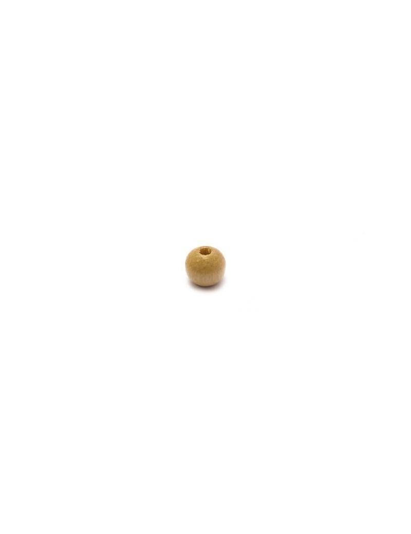 Perle en bois naturel vernis 6 mm