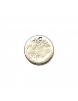Sequin rayé argent vieilli 15 mm