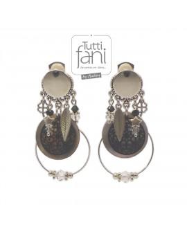 Boucles d'oreilles clips breloques et anneaux
