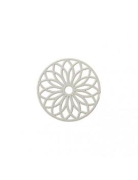 Estampe rosace gris clair 24 mm