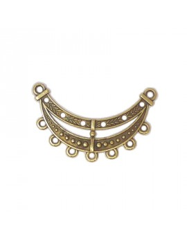 Multi-rangs 7 anneaux bronze 32x52 mm