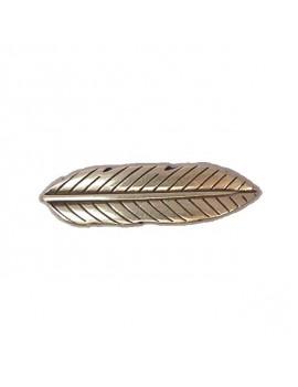 Passant plume argent vieilli pour cordon 10 mm