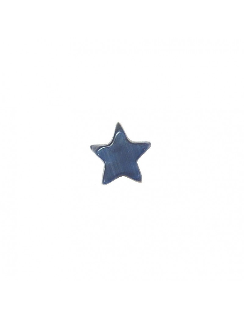 Perle étoile oeil de chat bleu marine 8 mm