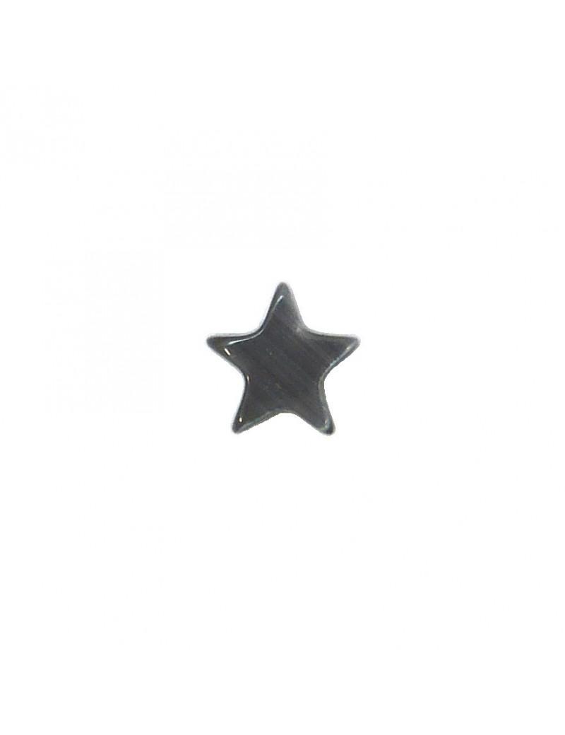 Perle étoile oeil de chat gris 8 mm