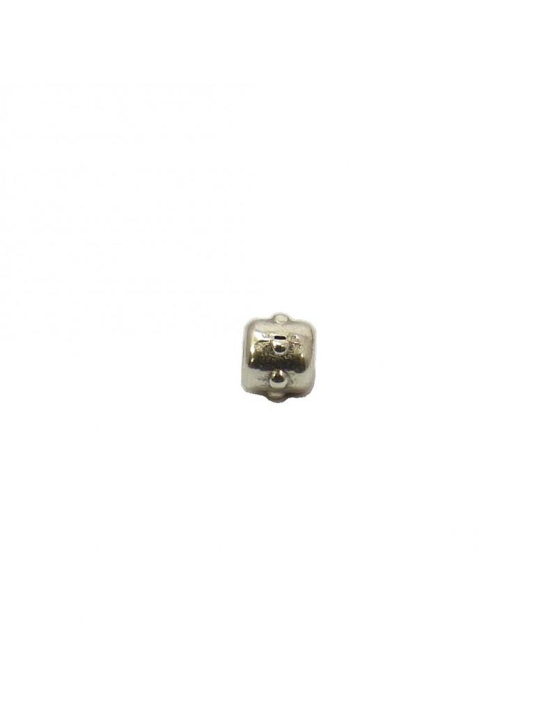Petite perle à pointes argent vieilli 4 mm