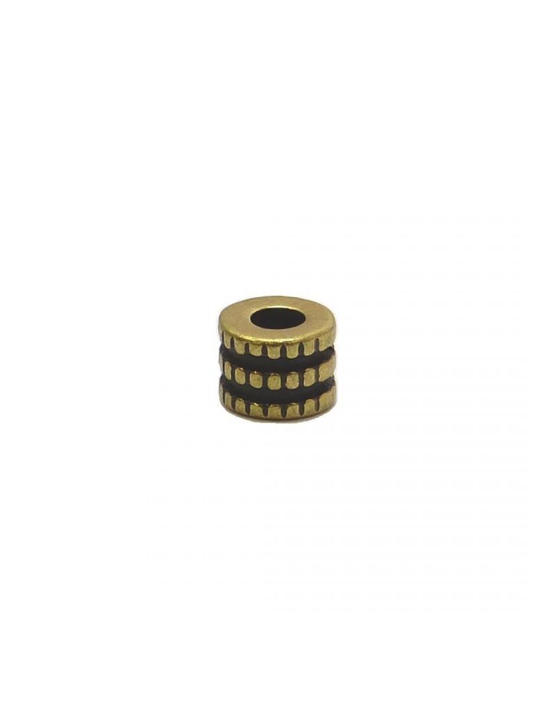 Perle roue bronze 5x6 mm