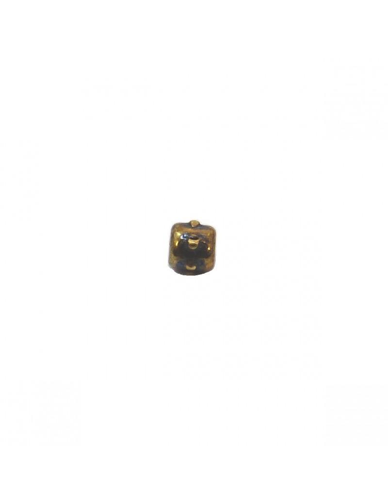 Petite perle à pointes bronze 4 mm