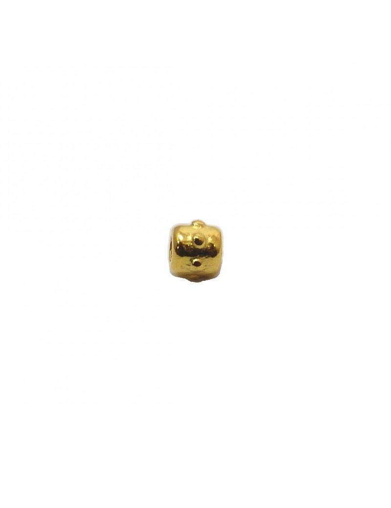 Petite perle à pointes doré 4 mm