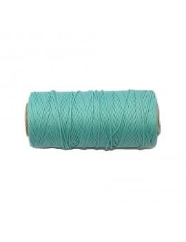 Cordon polyester 0,5 mm vert d'eau - 50 cm