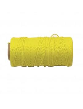Cordon polyester 0,5 mm jaune - 50 cm