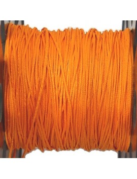 Cordon polyester 0,5 mm orange - 50 cm
