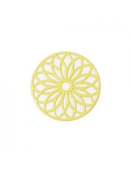 Estampe rosace jaune 24 mm