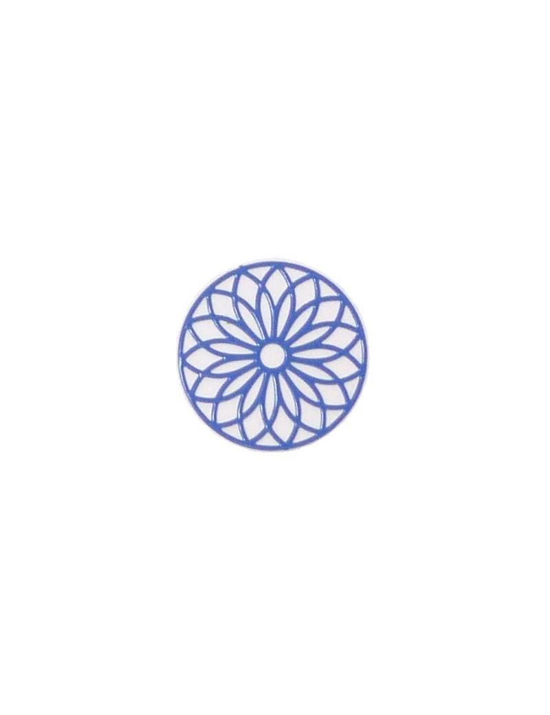 Estampe rosace bleu électrique 24 mm