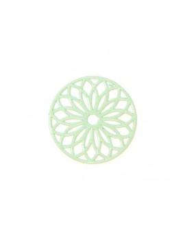 Estampe rosace vert d'eau 24 mm