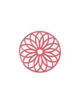 Estampe rosace rouge 24 mm