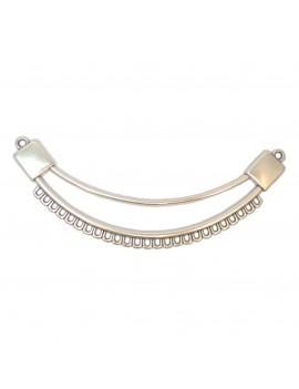 Multi-rangs plastron 25 anneaux argent vieilli
