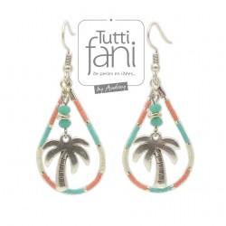 Boucles d'oreilles palmiers et délicas