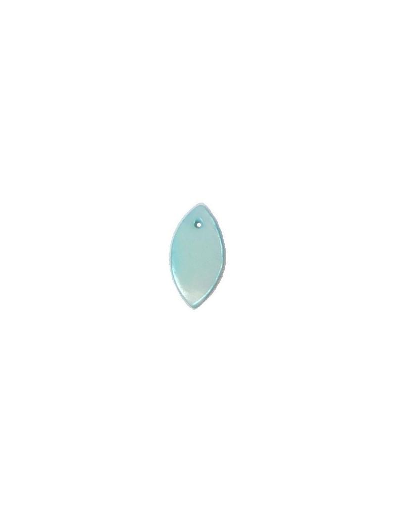 Larme en nacre bleue 9x18 mm