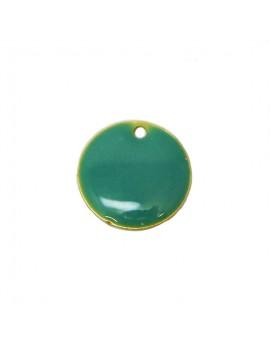 Sequin émaillé turquoise 15 mm