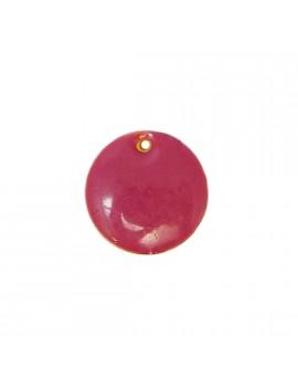 Sequin émaillé rose 15 mm