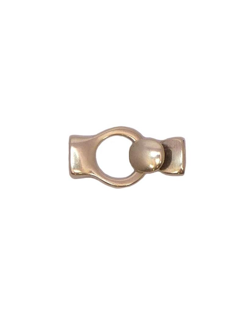 Fermoir boutonnière à coller argent vieilli pour cordon 10 mm