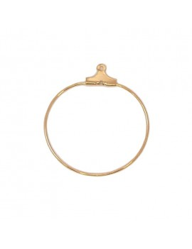 Base anneau 30 mm doré