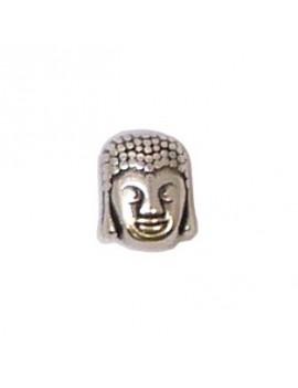 Perle Bouddha argent vieilli 8x10 mm