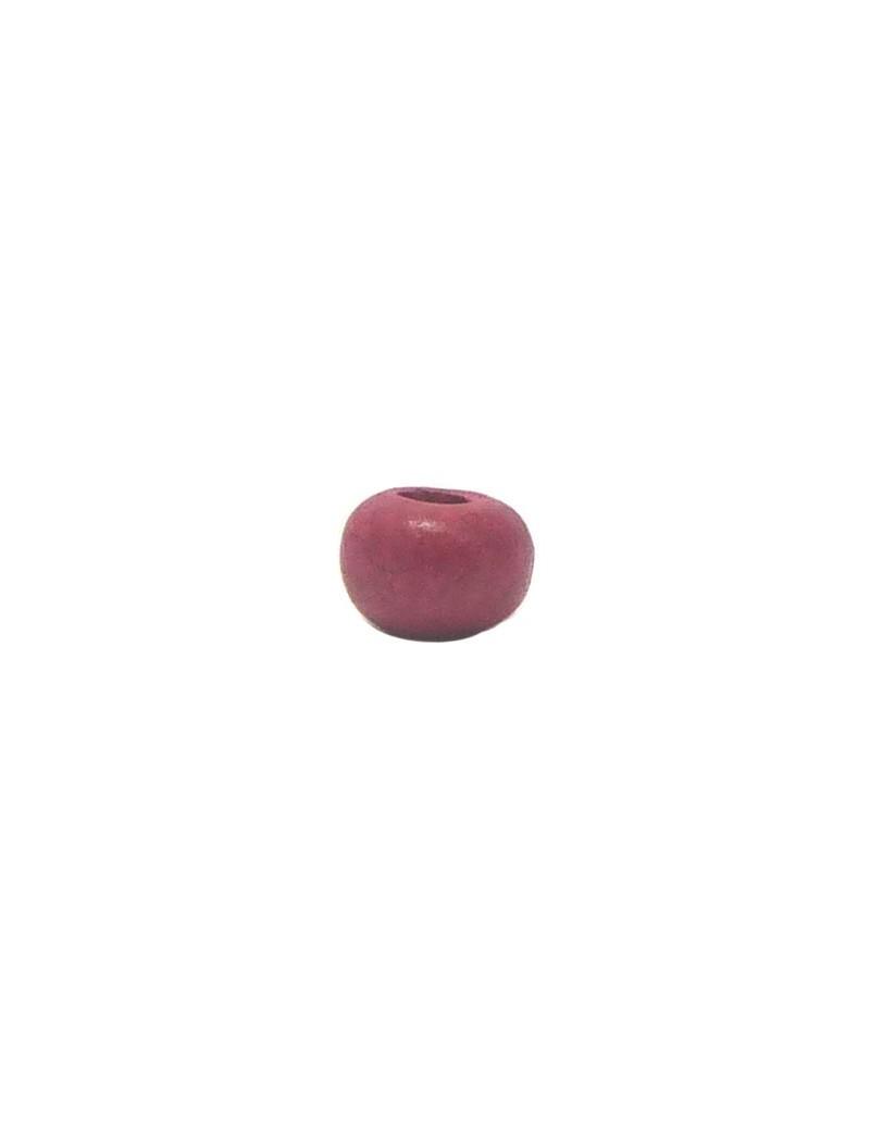 Perle céramique 8 mm fuchsia mat