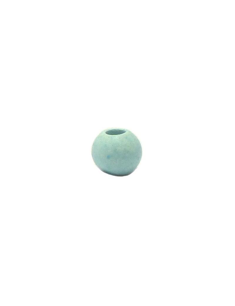Perle céramique 8 mm bleu ciel mat