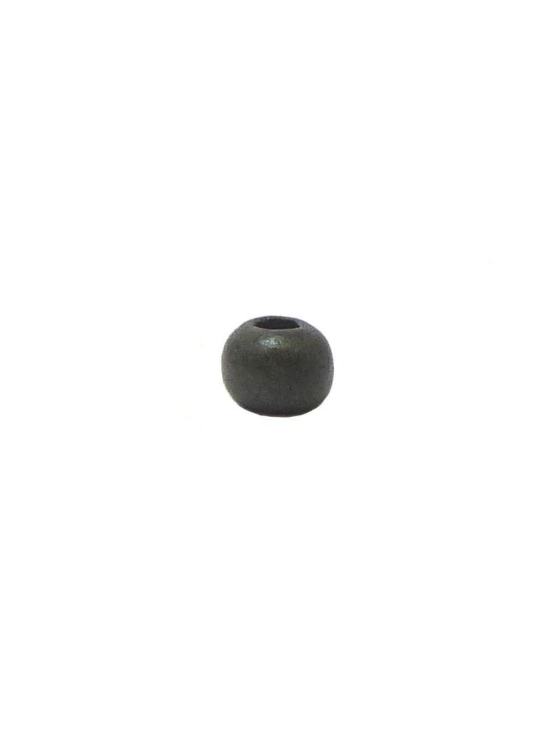 Perle céramique 8 mm gris foncé mat