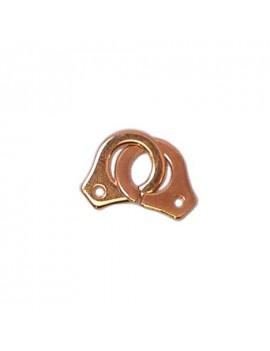 Fermoir menottes rose doré 12x24 mm