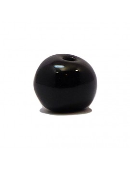 Perle céramique émaillée 22 mm noir
